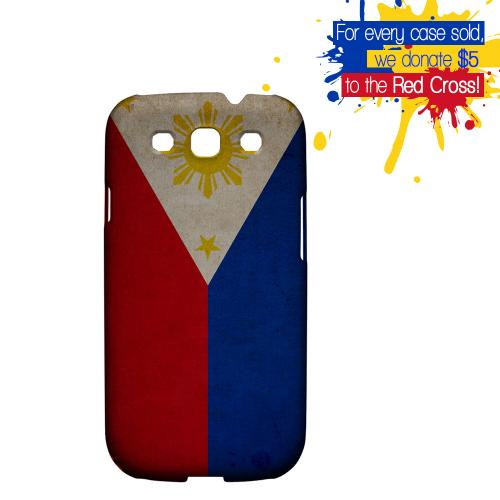 Grunge Philippines Geeks Designer Line Flag Series Matte Hard Case for Samsung Galaxy S3