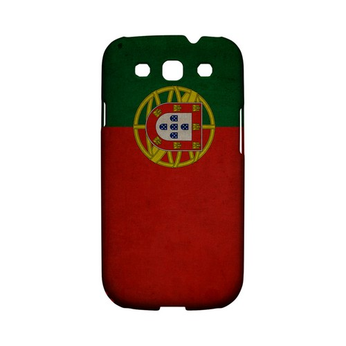Grunge Portugal Geeks Designer Line Flag Series Matte Hard Case for Samsung Galaxy S3