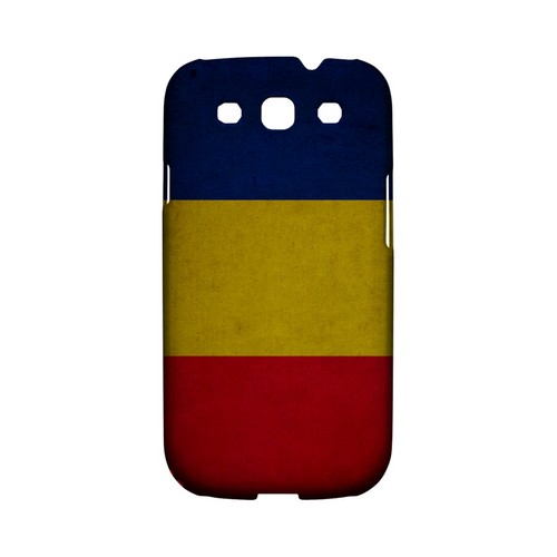Grunge Romania Geeks Designer Line Flag Series Matte Hard Case for Samsung Galaxy S3