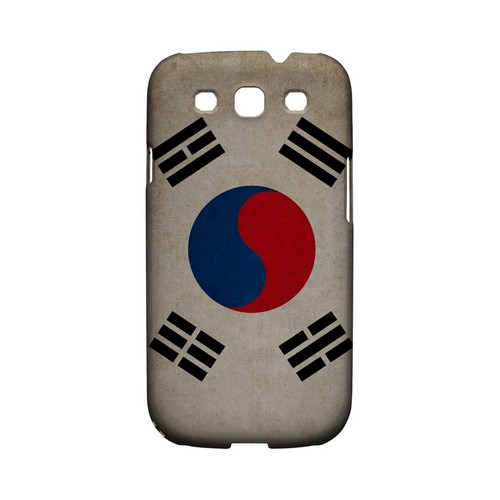 Grunge South Korea Geeks Designer Line Flag Series Matte Hard Case for Samsung Galaxy S3