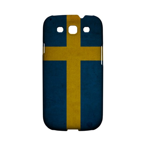 Grunge Sweden Geeks Designer Line Flag Series Matte Hard Case for Samsung Galaxy S3
