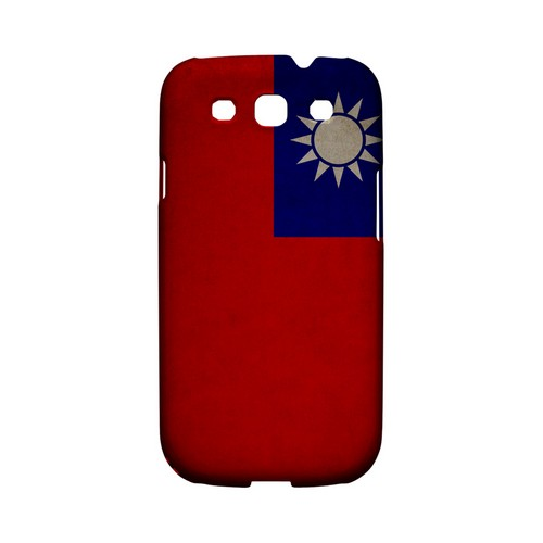 Grunge Taiwan Geeks Designer Line Flag Series Matte Hard Case for Samsung Galaxy S3