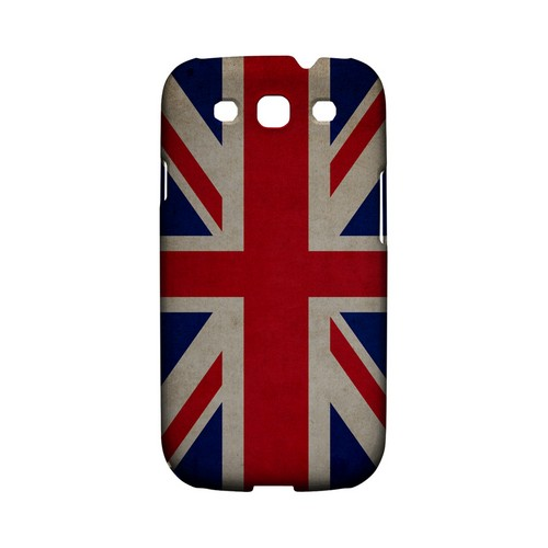 Grunge United Kingdom Geeks Designer Line Flag Series Matte Hard Case for Samsung Galaxy S3