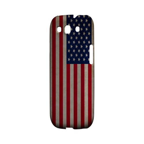 Grunge United States Geeks Designer Line Flag Series Matte Hard Case for Samsung Galaxy S3
