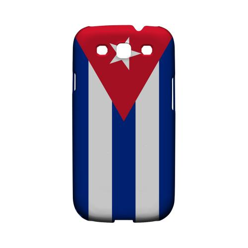 Cuba Geeks Designer Line Flag Series Matte Hard Case for Samsung Galaxy S3