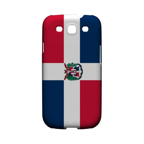 Dominican Republic Geeks Designer Line Flag Series Matte Hard Case for Samsung Galaxy S3