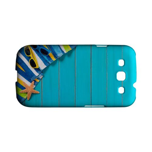 Decked Out Geeks Designer Line Beach Series Matte Hard Case for Samsung Galaxy S3