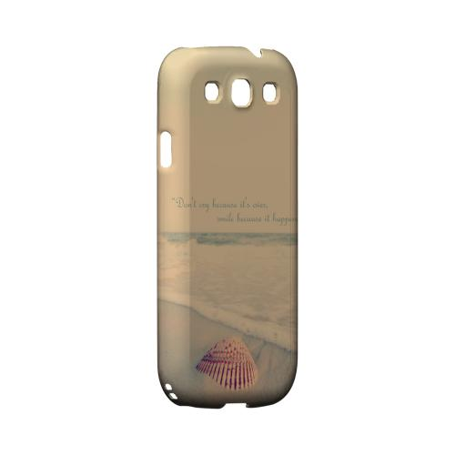 Don't Cry Geeks Designer Line Beach Series Matte Hard Case for Samsung Galaxy S3