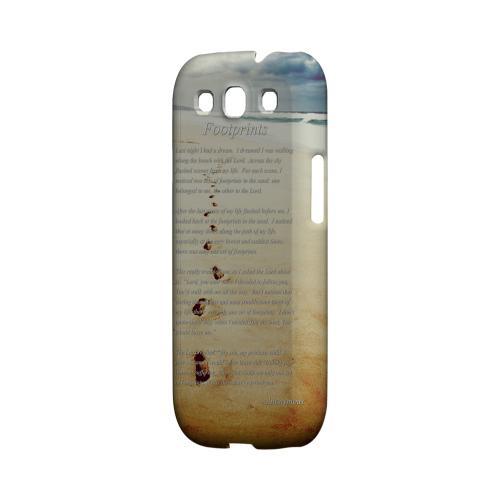 Footprints Geeks Designer Line Beach Series Matte Hard Case for Samsung Galaxy S3