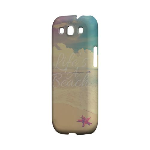 Life's A Beach Geeks Designer Line Beach Series Matte Hard Case for Samsung Galaxy S3