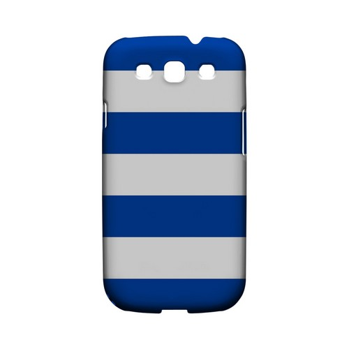 Big Blue - Geeks Designer Line Stripe Series Matte Case for Samsung Galaxy S3