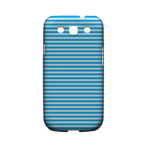 Blue/ White Stripes - Geeks Designer Line Stripe Series Matte Case for Samsung Galaxy S3