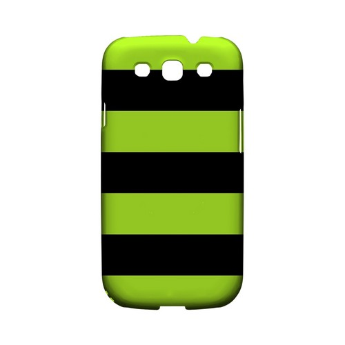 Colorway Black/ Flo Green - Geeks Designer Line Stripe Series Matte Case for Samsung Galaxy S3