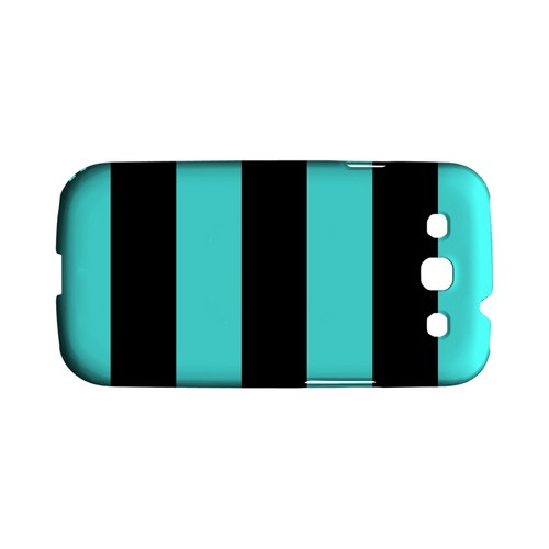 Colorway Black/ Teal - Geeks Designer Line Stripe Series Matte Case for Samsung Galaxy S3