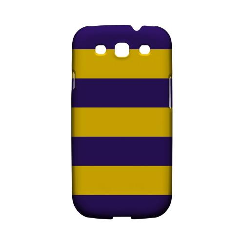 Colorway Purple/ Gold - Geeks Designer Line Stripe Series Matte Case for Samsung Galaxy S3