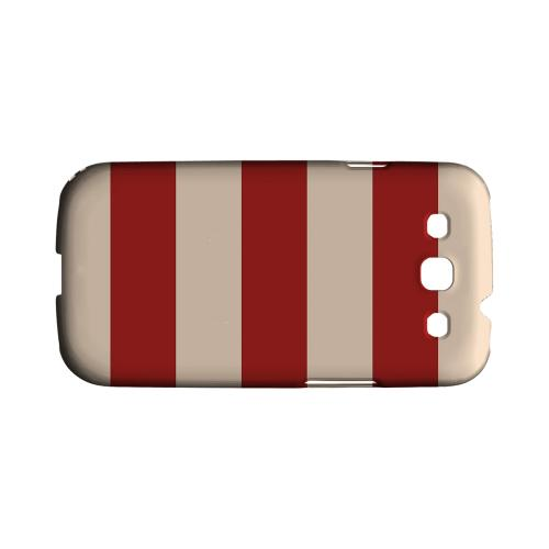 Linen Poppy Red - Geeks Designer Line Stripe Series Matte Case for Samsung Galaxy S3