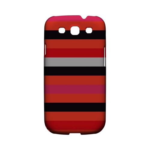 Muted Spade Stripes - Geeks Designer Line Stripe Series Matte Case for Samsung Galaxy S3