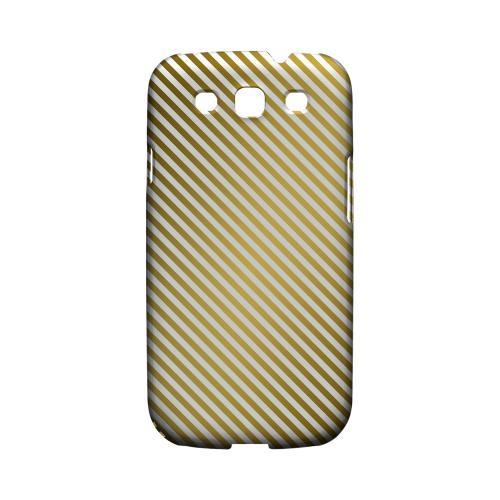 Thin Golden Diagonal - Geeks Designer Line Stripe Series Matte Case for Samsung Galaxy S3