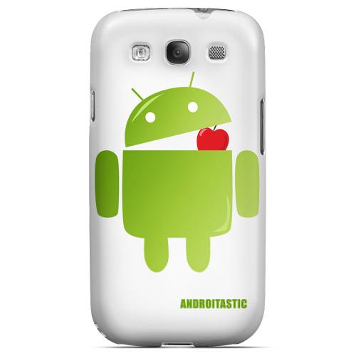 Samsung Galaxy S3 Slim Rubberized Hard Back Cover - Solid White