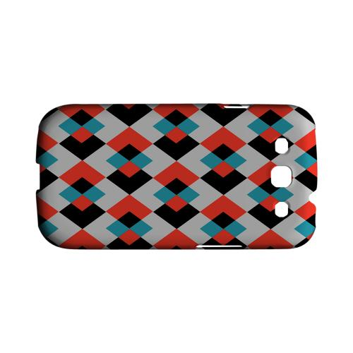 Double Diamond Vision - Geeks Designer Line Checker Series Matte Case for Samsung Galaxy S3