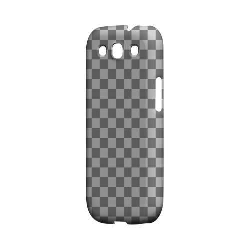 Gray/ Light Gray - Geeks Designer Line Checker Series Matte Case for Samsung Galaxy S3