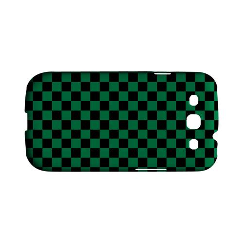 Green/ Black - Geeks Designer Line Checker Series Matte Case for Samsung Galaxy S3