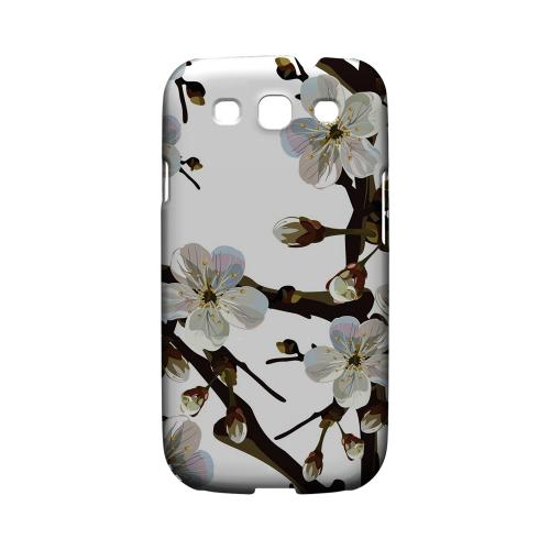 White Cherry Blossom - Geeks Designer Line Floral Series Matte Case for Samsung Galaxy S3