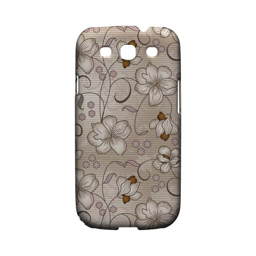 Floral Stripes Linen - Geeks Designer Line Floral Series Matte Case for Samsung Galaxy S3