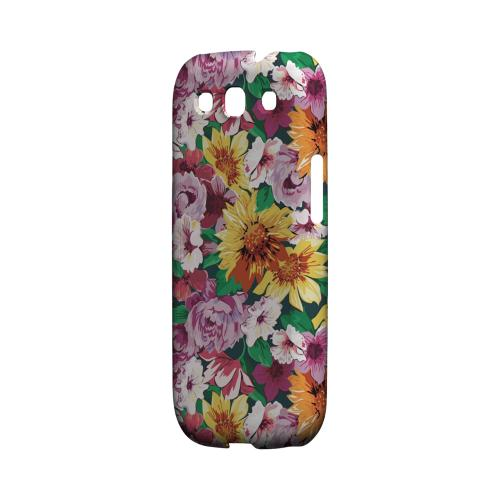 Pink/ Orange Flowers - Geeks Designer Line Floral Series Matte Case for Samsung Galaxy S3