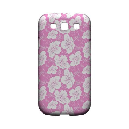 White Hibiscus on Pink - Geeks Designer Line Floral Series Matte Case for Samsung Galaxy S3