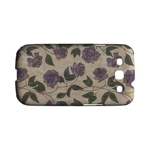 Purple Flowers & Vines Wallpaper - Geeks Designer Line Floral Series Matte Case for Samsung Galaxy S3