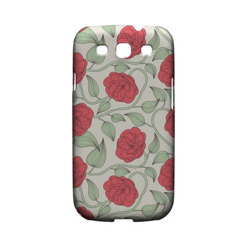 Roses & Vines - Geeks Designer Line Floral Series Matte Case for Samsung Galaxy S3