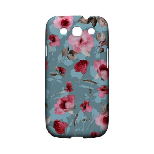 Vintage Watercolor Roses - Geeks Designer Line Floral Series Matte Case for Samsung Galaxy S3