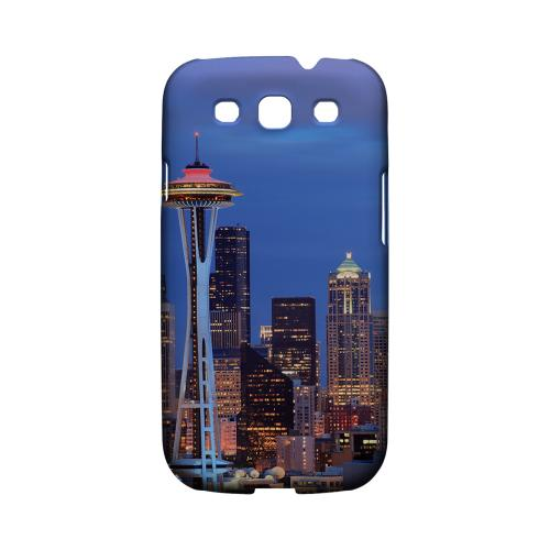 Seattle - Geeks Designer Line City Series Matte Case for Samsung Galaxy S3
