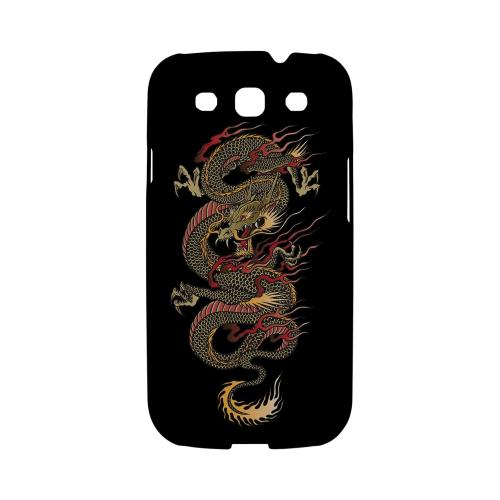 Dragon on Black - Geeks Designer Line Tattoo Series Matte Case for Samsung Galaxy S3