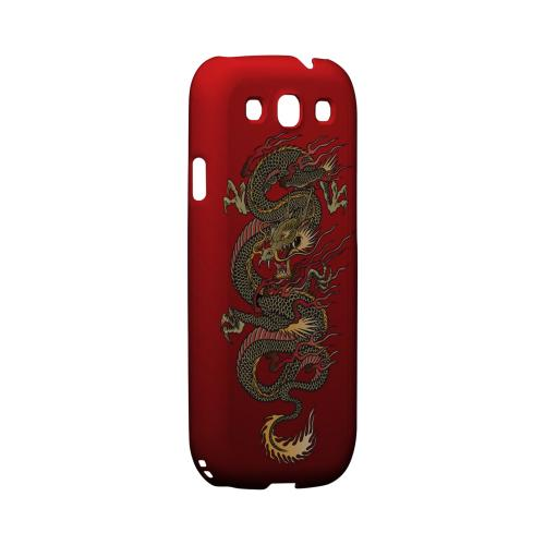 Dragon on Red Gradient - Geeks Designer Line Tattoo Series Matte Case for Samsung Galaxy S3
