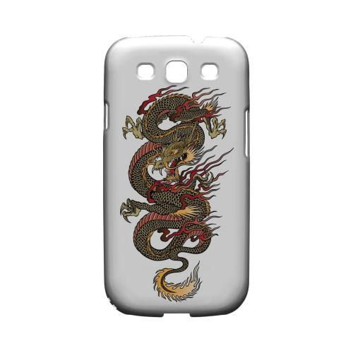 Dragon on White - Geeks Designer Line Tattoo Series Matte Case for Samsung Galaxy S3