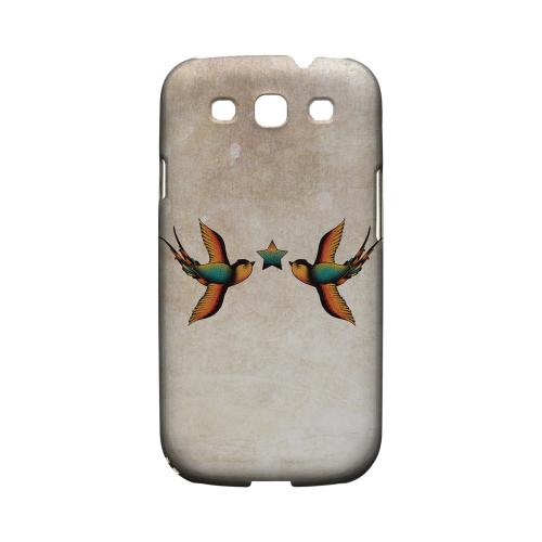 Dual Swallow Star - Geeks Designer Line Tattoo Series Matte Case for Samsung Galaxy S3