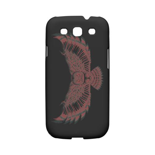 Flying Owl 3D-Esque - Geeks Designer Line Tattoo Series Matte Case for Samsung Galaxy S3