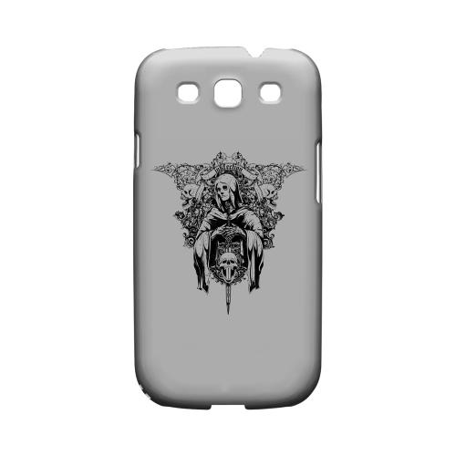 Inkfection on Gray - Geeks Designer Line Tattoo Series Matte Case for Samsung Galaxy S3