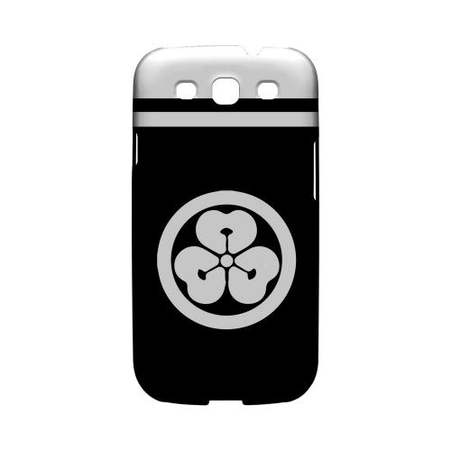 White Katabami Kamon w/ Stripe v.4 - Geeks Designer Line Tattoo Series Hard Case for Samsung Galaxy S3