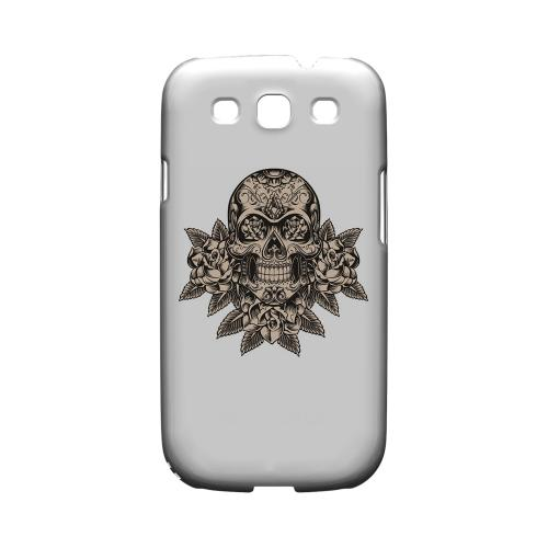 Skull Roses - Geeks Designer Line Tattoo Series Hard Case for Samsung Galaxy S3