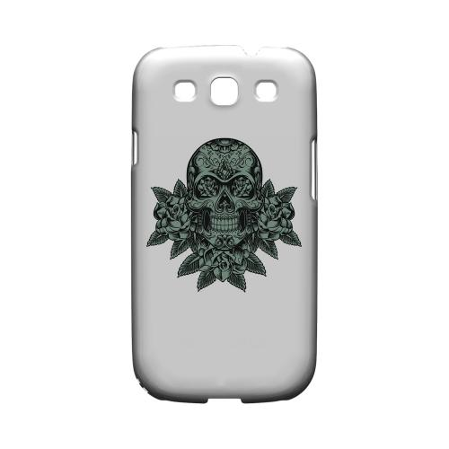 Skull Roses Aqua - Geeks Designer Line Tattoo Series Hard Case for Samsung Galaxy S3