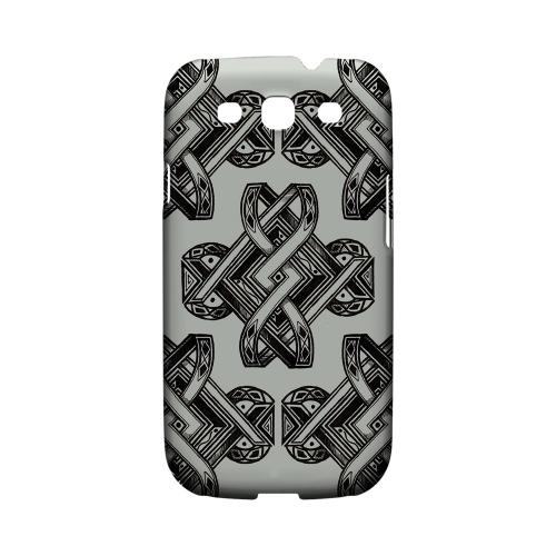 Tribal Art on Gray - Geeks Designer Line Tattoo Series Hard Case for Samsung Galaxy S3