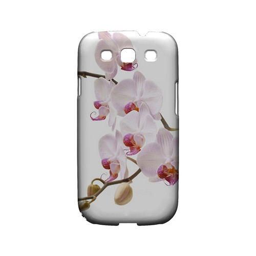 White Pink Orchid - Geeks Designer Line Floral Series Matte Case for Samsung Galaxy S3