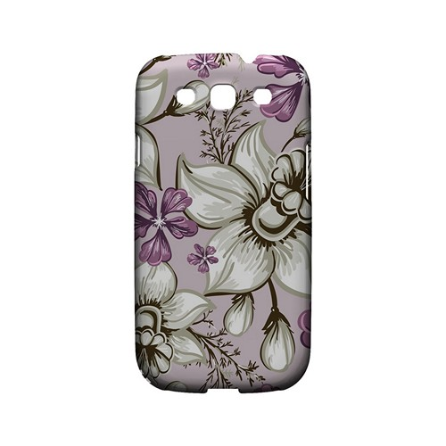 White and Violet Orchids - Geeks Designer Line Floral Series Matte Case for Samsung Galaxy S3