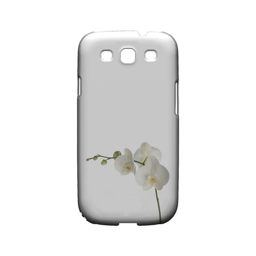 Simple White Orchid - Geeks Designer Line Floral Series Matte Case for Samsung Galaxy S3