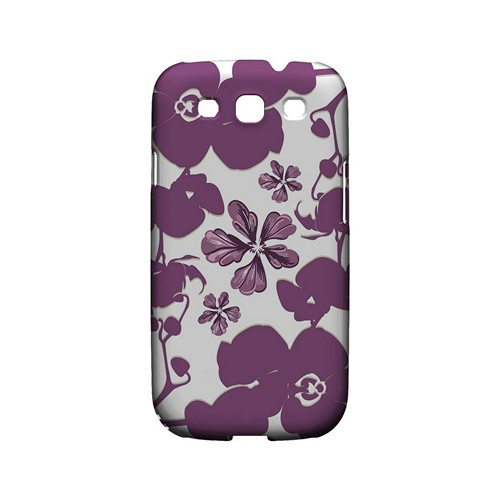 Purple Orchids - Geeks Designer Line Floral Series Matte Case for Samsung Galaxy S3