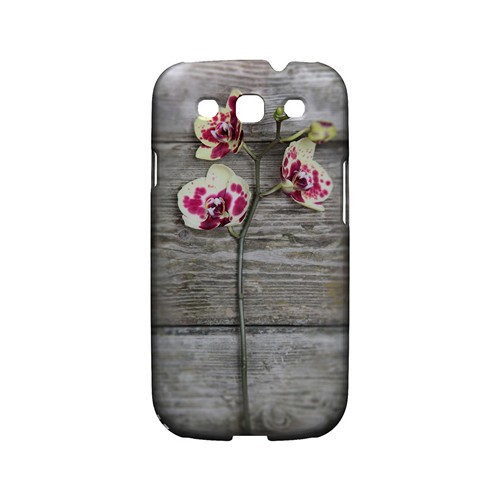 Orchid on Wood - Geeks Designer Line Floral Series Matte Case for Samsung Galaxy S3