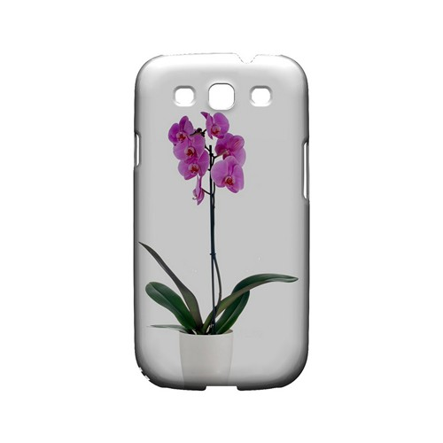 Hot Pink Orchid Plant - Geeks Designer Line Floral Series Matte Case for Samsung Galaxy S3